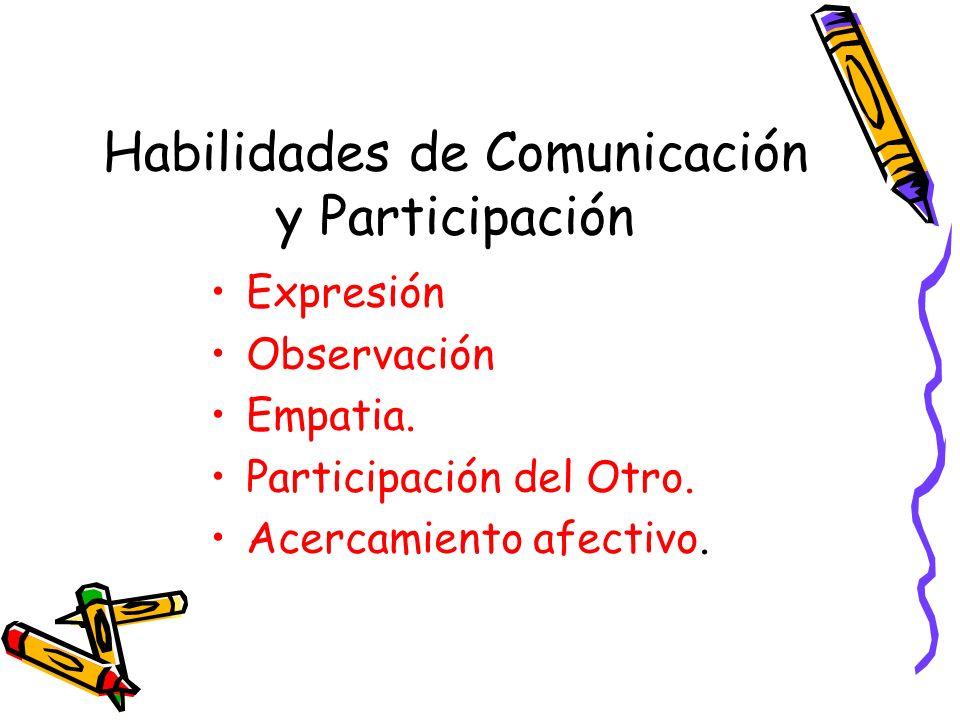 Habilidades de Comunicación y Participación