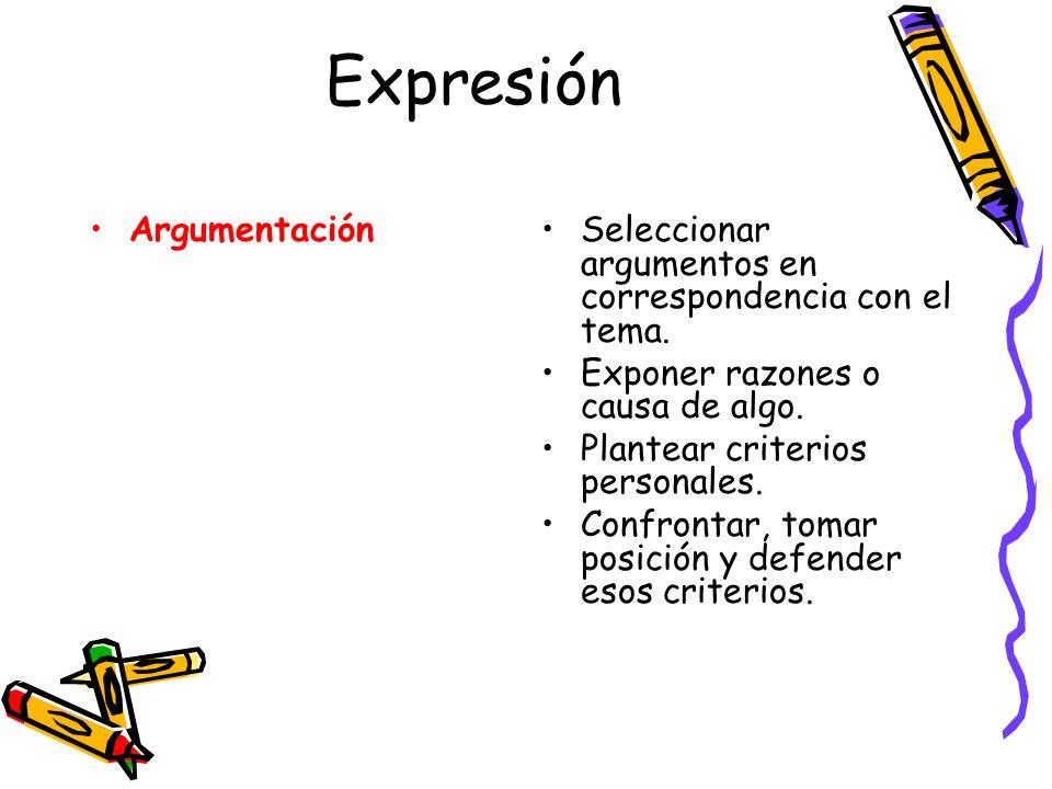 Expresión Argumentación