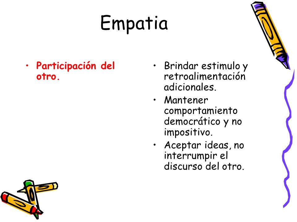 Empatia Participación del otro.