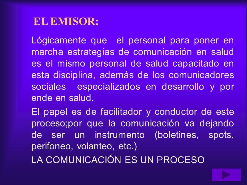 EL EMISOR: