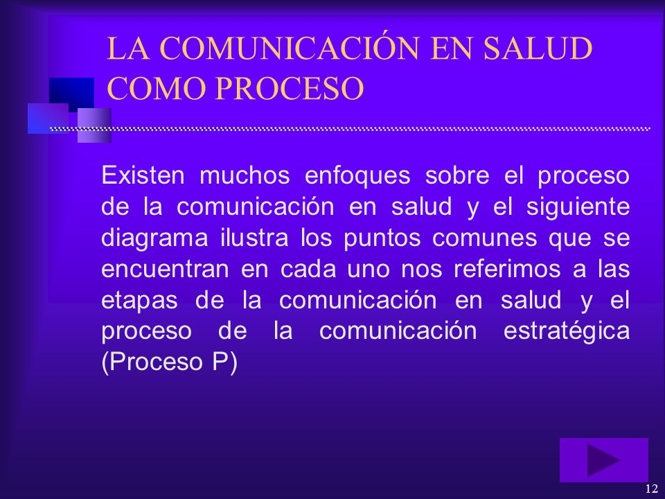 LA COMUNICACIÓN EN SALUD COMO PROCESO