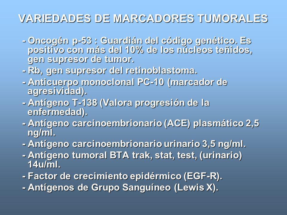 VARIEDADES DE MARCADORES TUMORALES