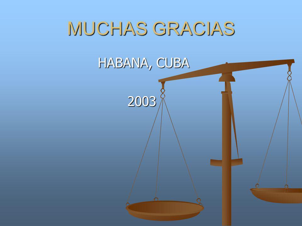 MUCHAS GRACIAS HABANA, CUBA 2003