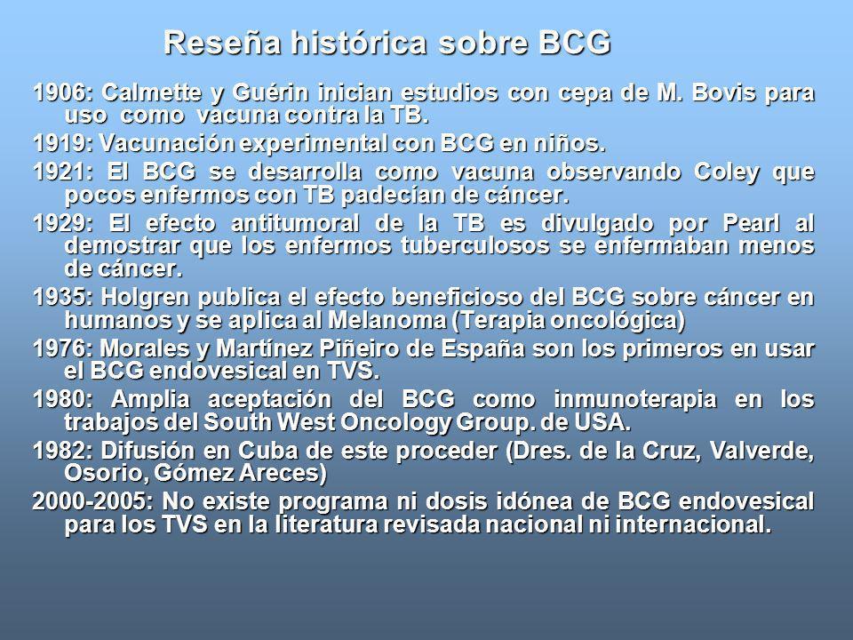 Reseña histórica sobre BCG