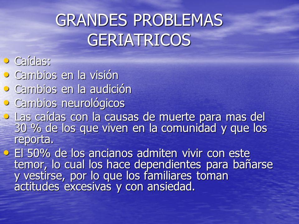 GRANDES PROBLEMAS GERIATRICOS