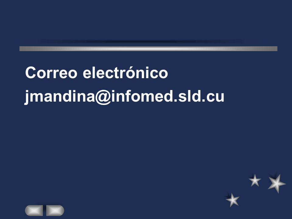 Correo electrónico jmandina@infomed.sld.cu