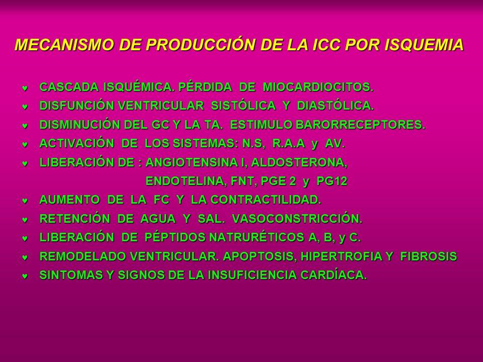 MECANISMO DE PRODUCCIÓN DE LA ICC POR ISQUEMIA