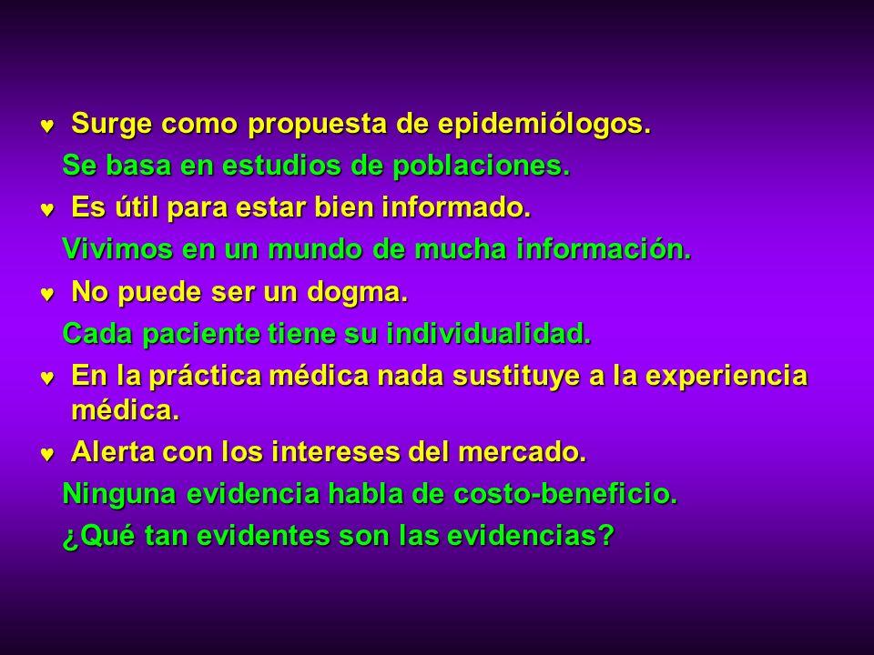 Surge como propuesta de epidemiólogos.