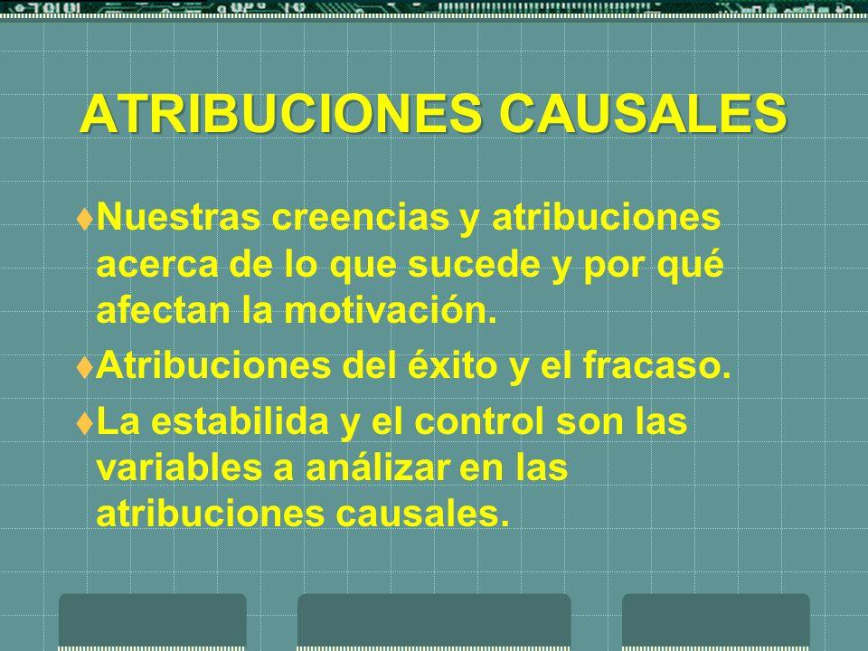 ATRIBUCIONES CAUSALES