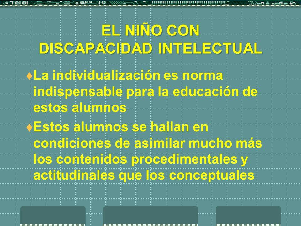 EL NIÑO CON DISCAPACIDAD INTELECTUAL