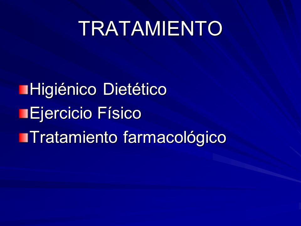 TRATAMIENTO Higiénico Dietético Ejercicio Físico