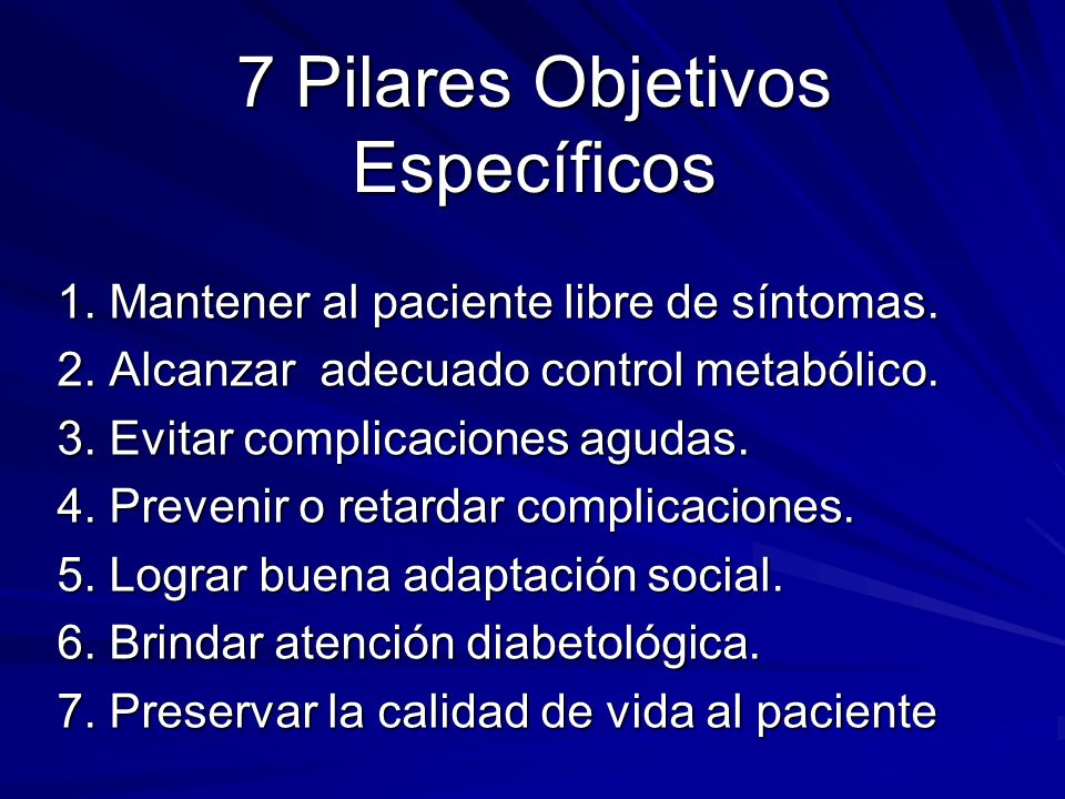 7 Pilares Objetivos Específicos