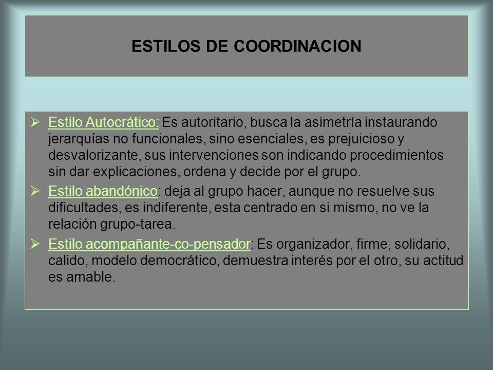 ESTILOS DE COORDINACION