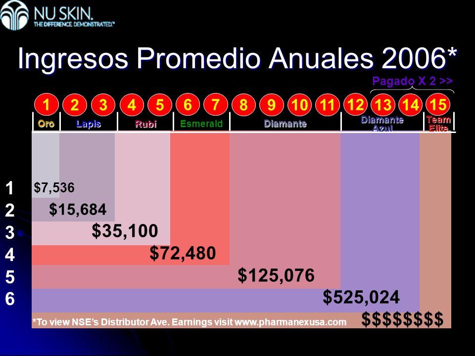 Ingresos Promedio Anuales 2006*