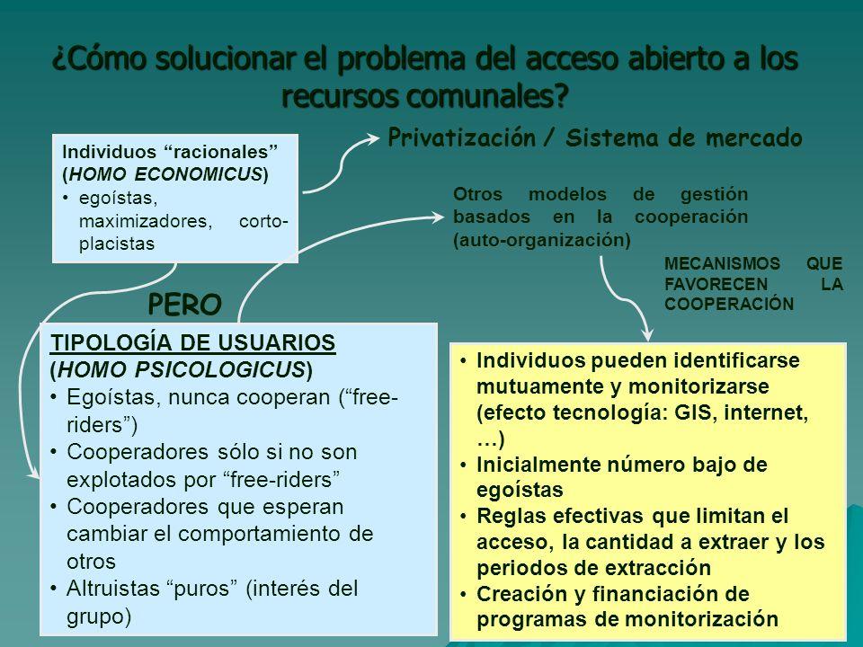 ¿Cómo solucionar el problema del acceso abierto a los recursos comunales