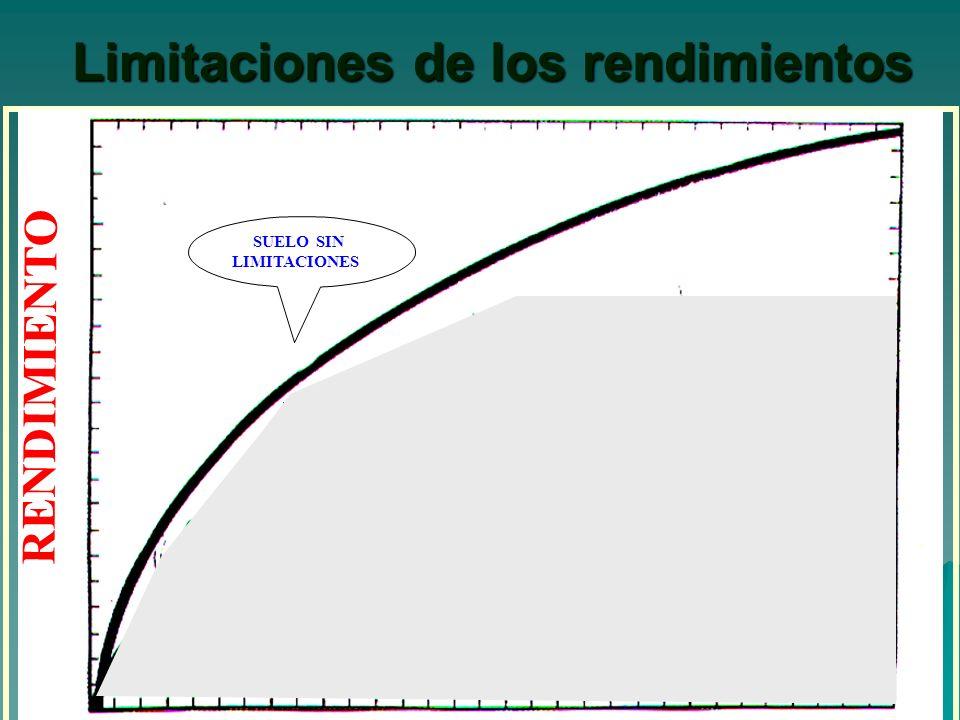Limitaciones de los rendimientos