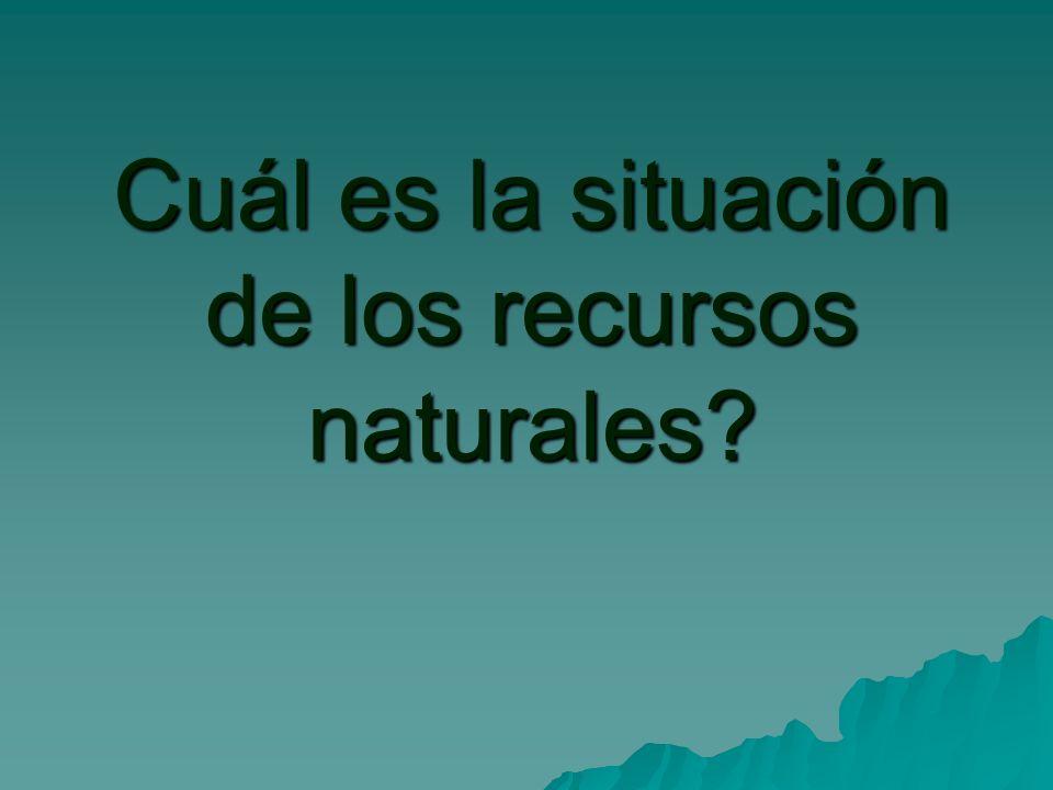 Cuál es la situación de los recursos naturales