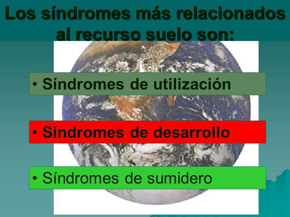 Los síndromes más relacionados al recurso suelo son: