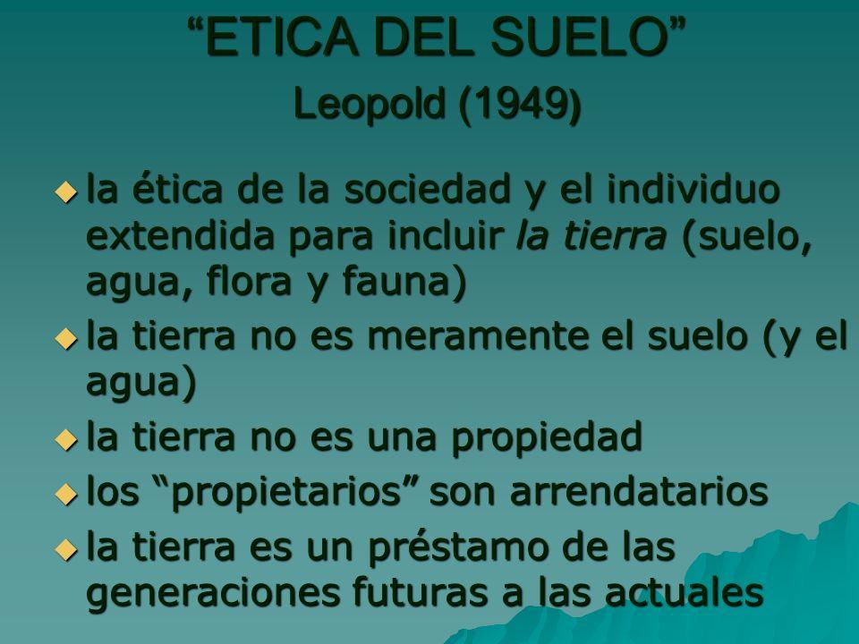 ETICA DEL SUELO Leopold (1949)