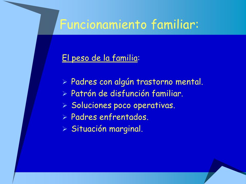 Funcionamiento familiar:
