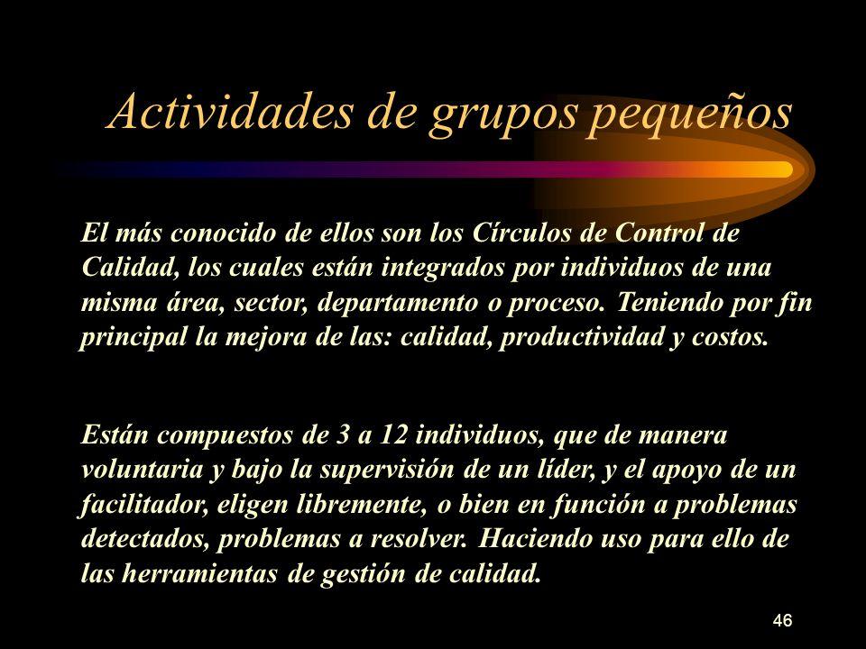 Actividades de grupos pequeños