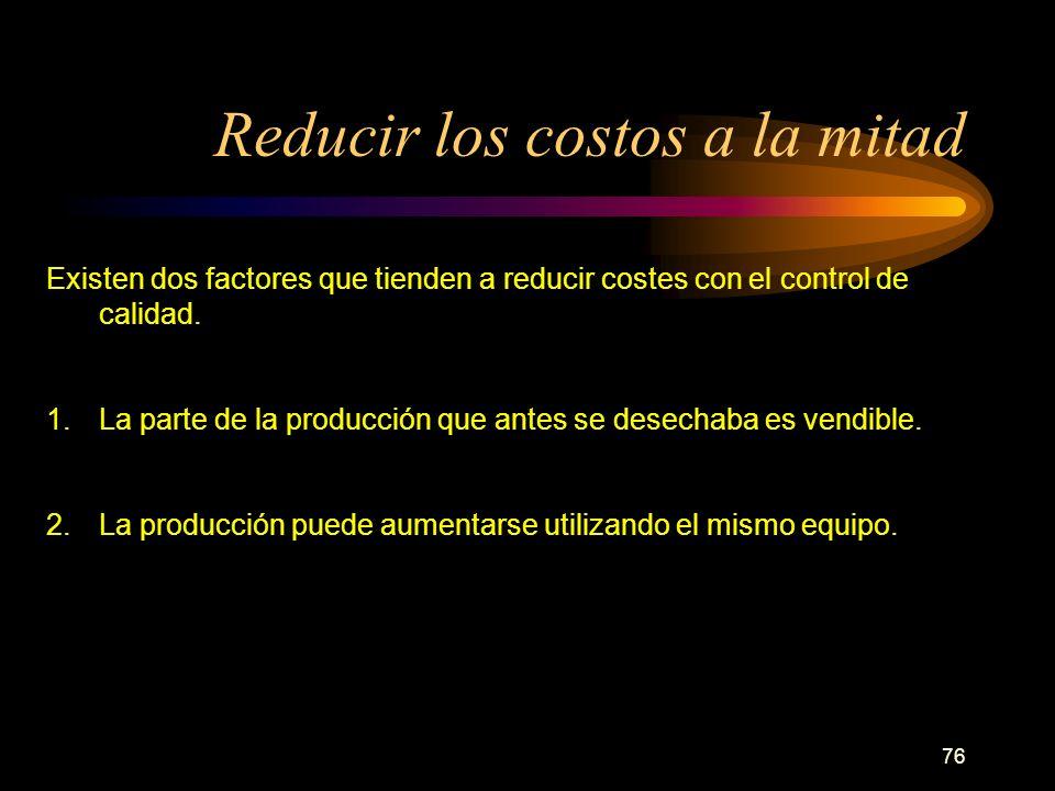 Reducir los costos a la mitad
