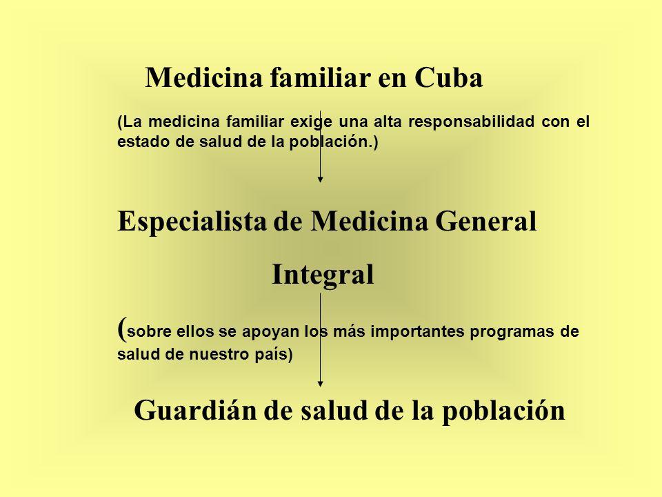 Especialista de Medicina General Integral