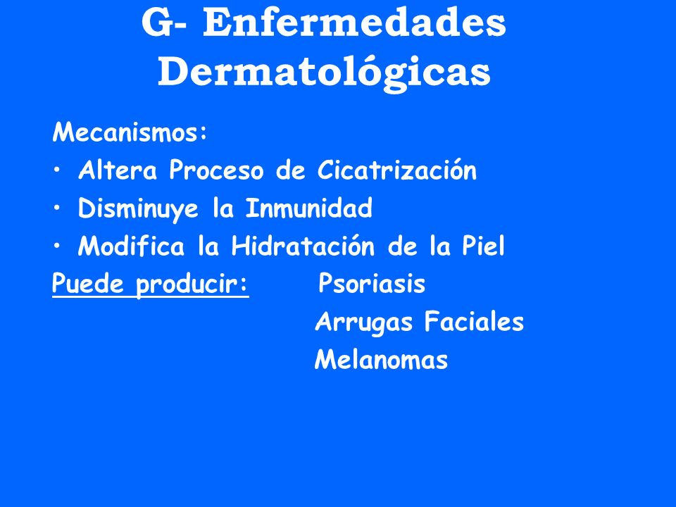 G- Enfermedades Dermatológicas