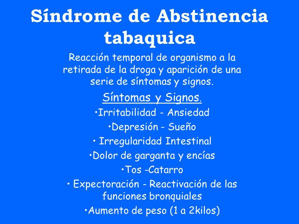 Síndrome de Abstinencia tabaquica