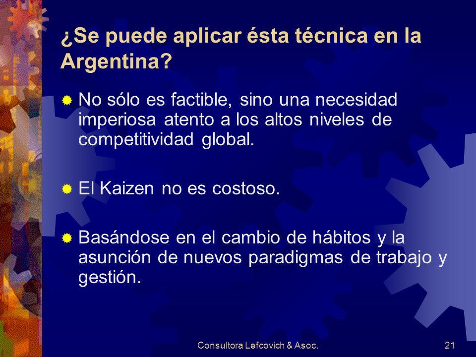 ¿Se puede aplicar ésta técnica en la Argentina
