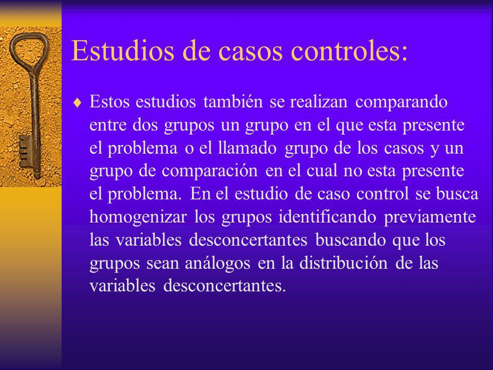 Estudios de casos controles: