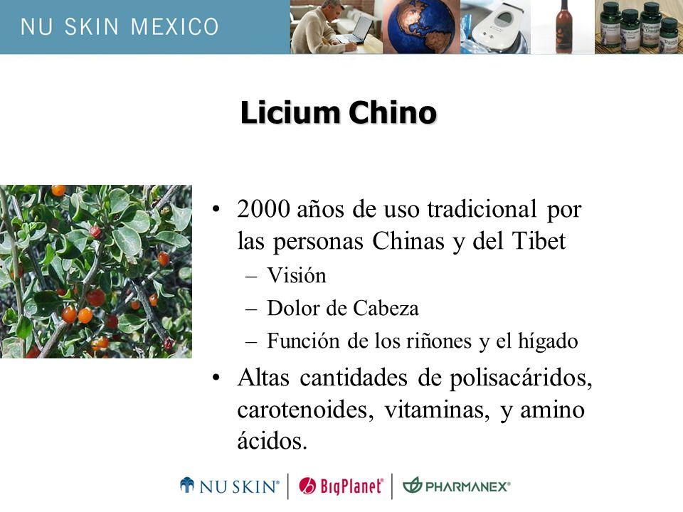 Licium Chino2000 años de uso tradicional por las personas Chinas y del Tibet. Visión. Dolor de Cabeza.