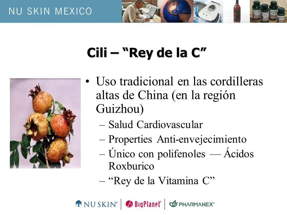 Cili – Rey de la C Uso tradicional en las cordilleras altas de China (en la región Guizhou) Salud Cardiovascular.