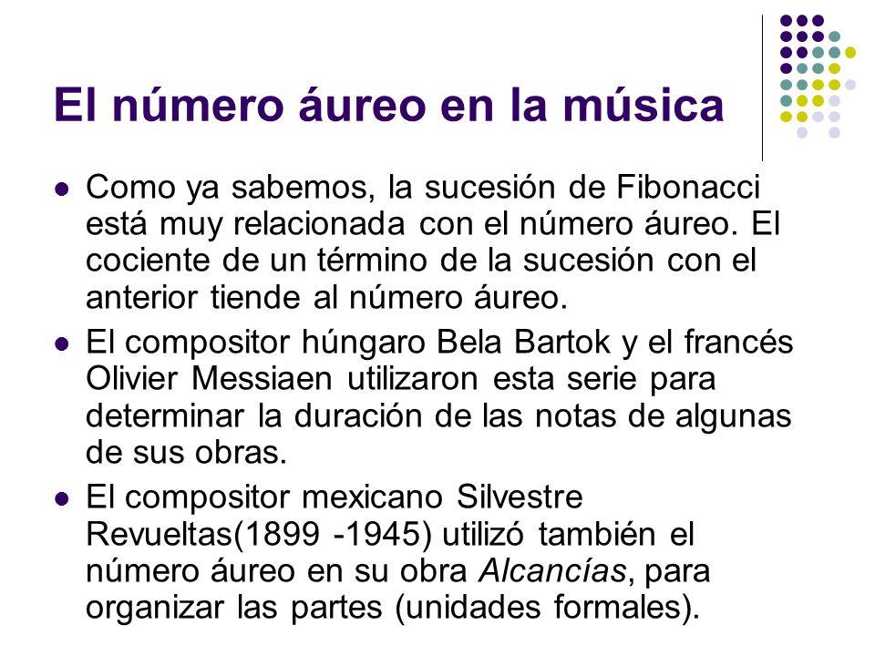 El número áureo en la música