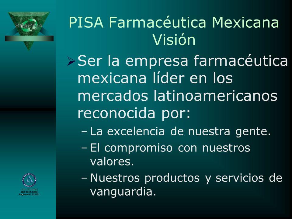 PISA Farmacéutica Mexicana Visión