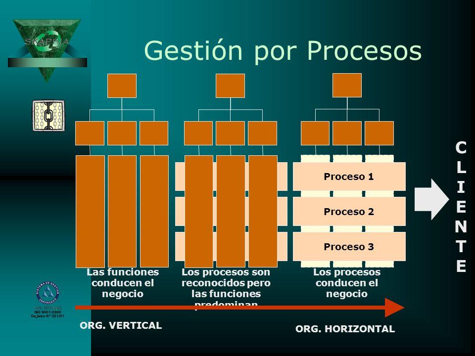 Gestión por Procesos C L I E N T Las funciones conducen el negocio
