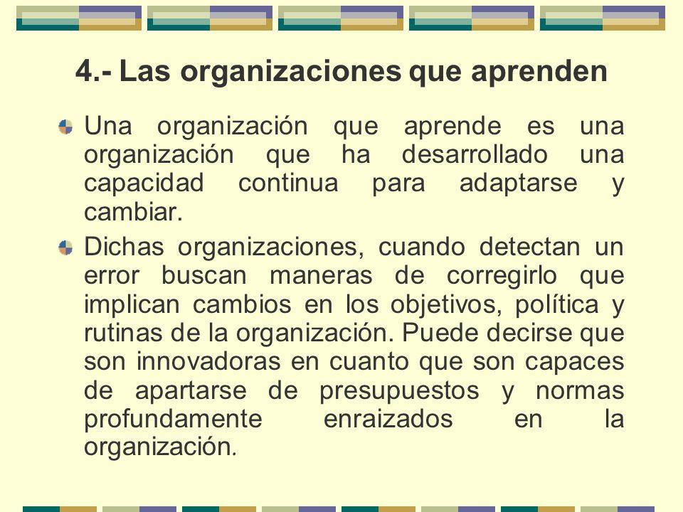 4.- Las organizaciones que aprenden