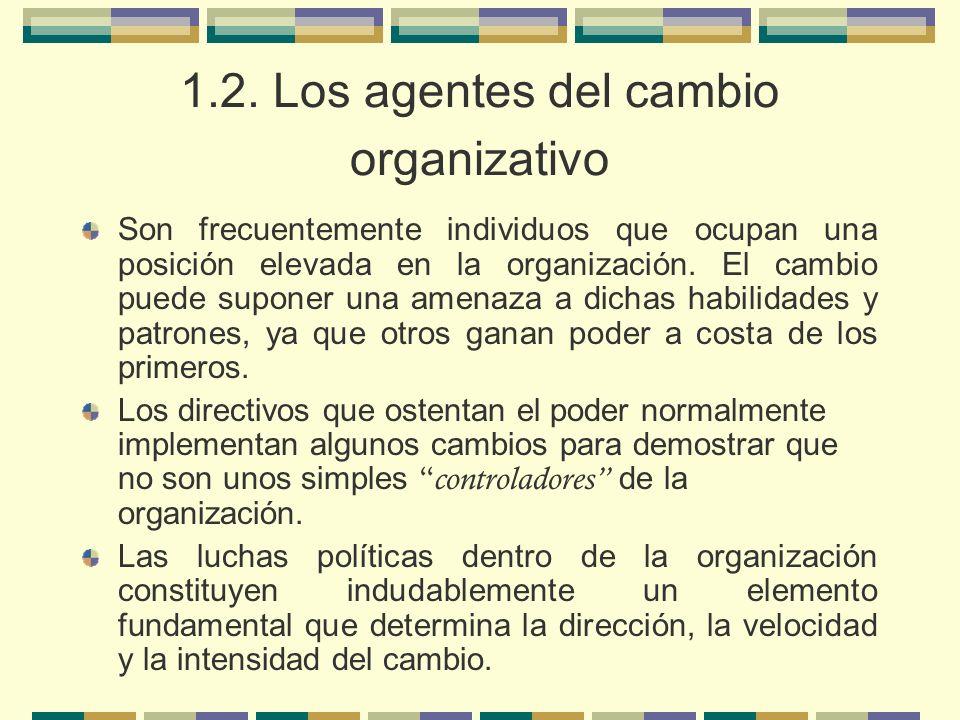 1.2. Los agentes del cambio organizativo