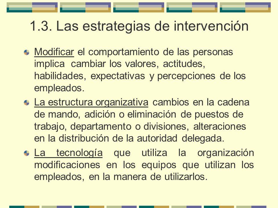 1.3. Las estrategias de intervención