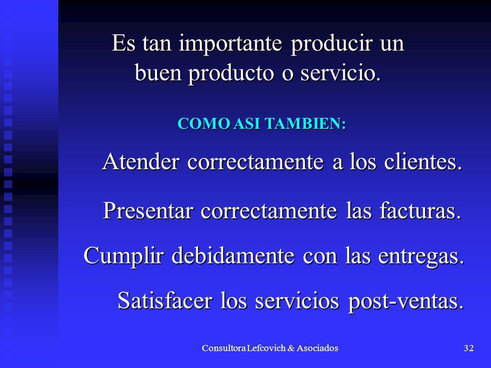 Es tan importante producir un buen producto o servicio.