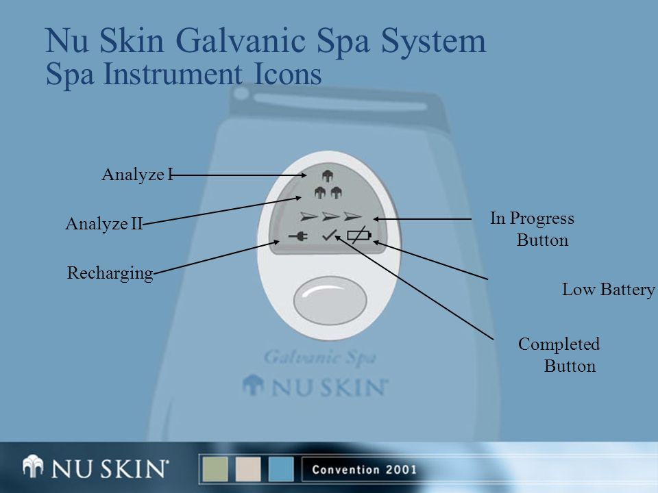 Nu Skin Galvanic Spa System Spa Instrument Icons