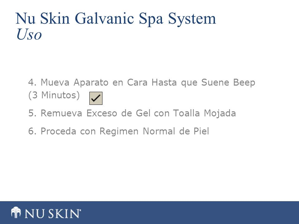 Nu Skin Galvanic Spa System Uso