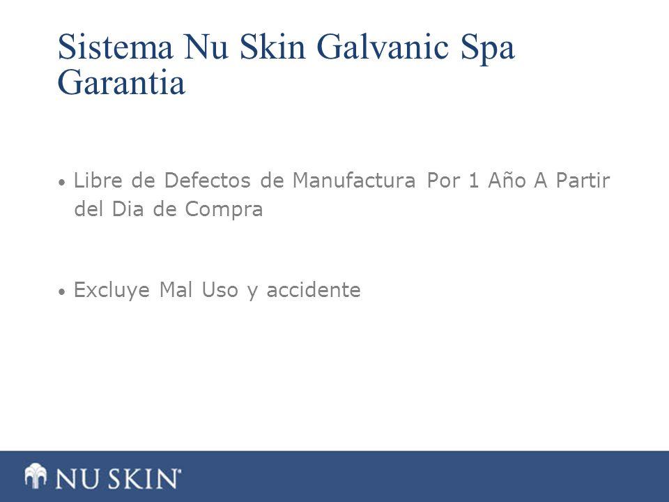 Sistema Nu Skin Galvanic Spa Garantia