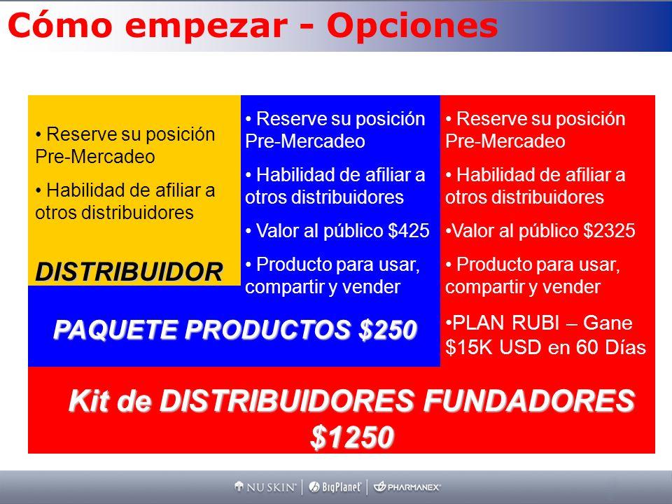 Kit de DISTRIBUIDORES FUNDADORES $1250