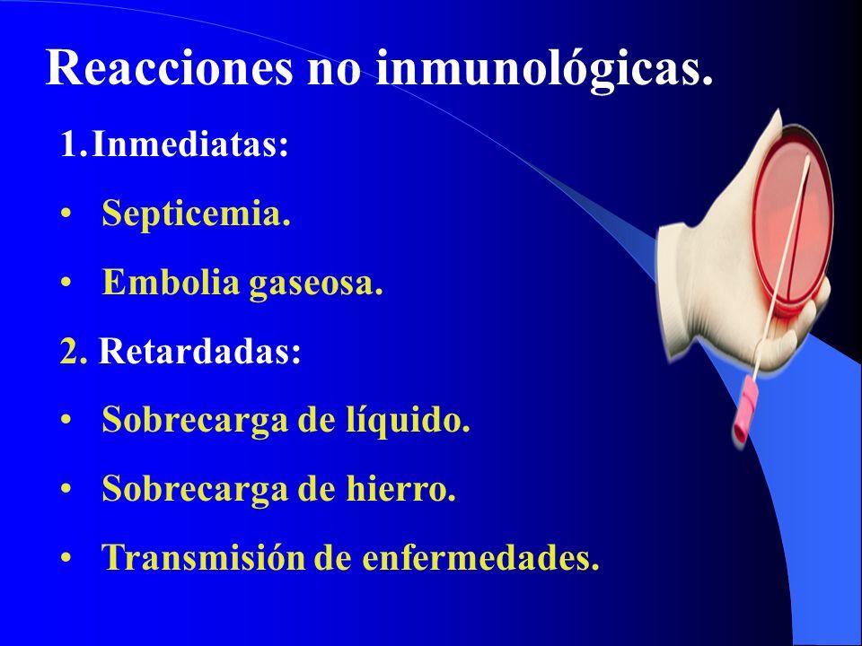 Reacciones no inmunológicas.