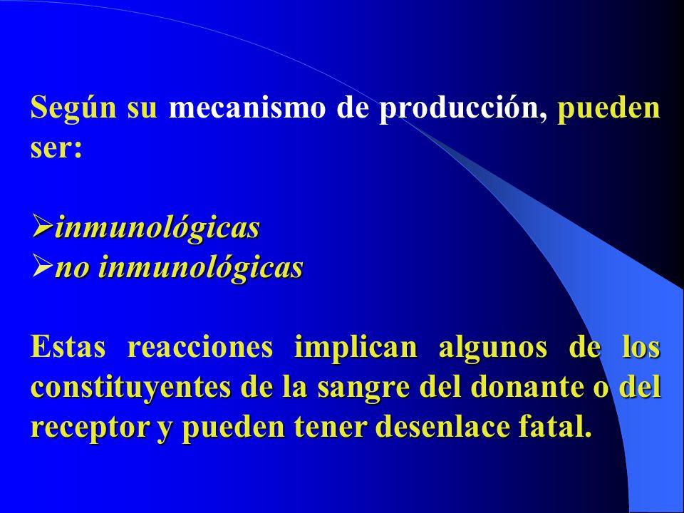 Según su mecanismo de producción, pueden ser: