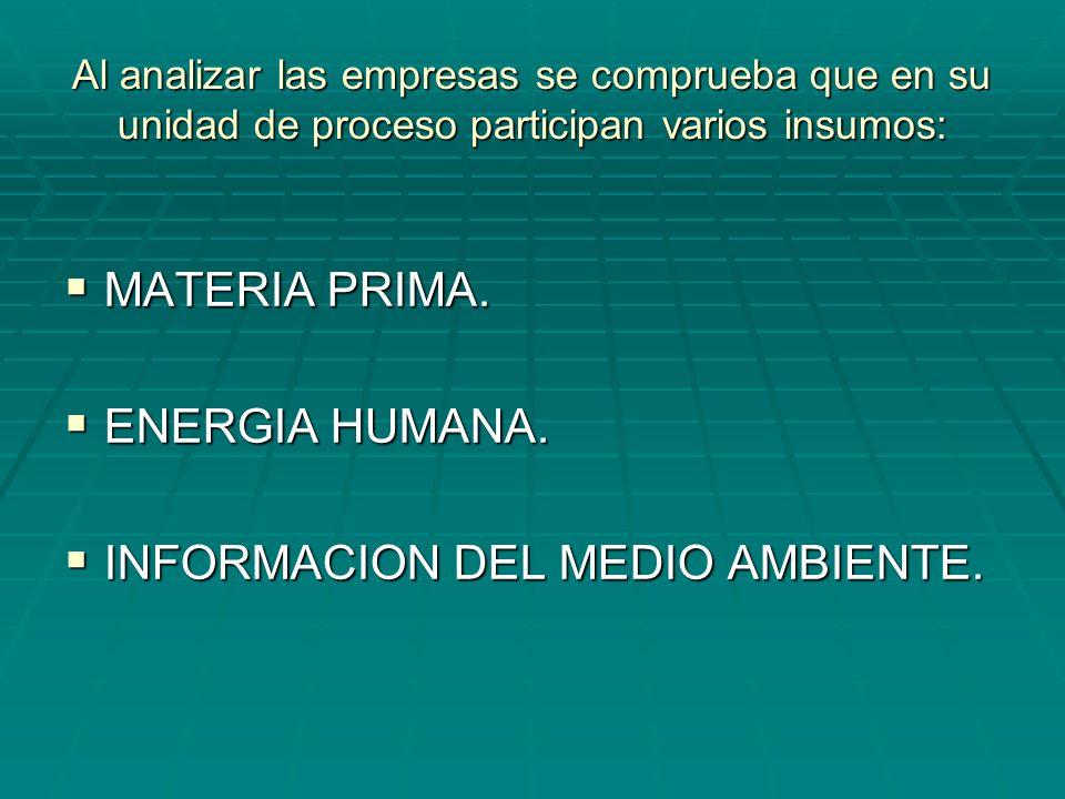INFORMACION DEL MEDIO AMBIENTE.