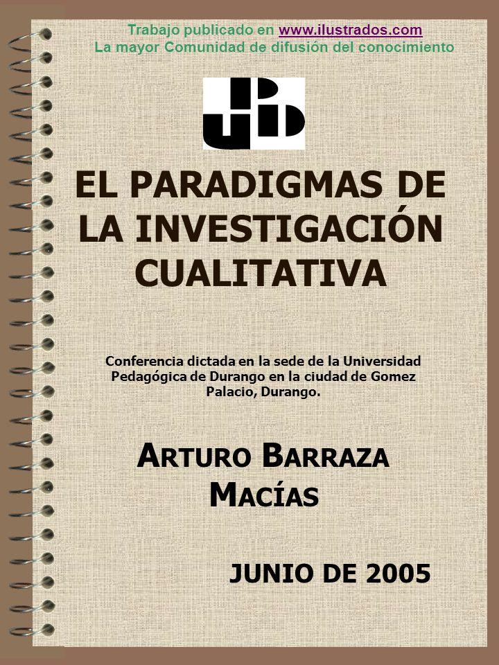 EL PARADIGMAS DE LA INVESTIGACIÓN CUALITATIVA