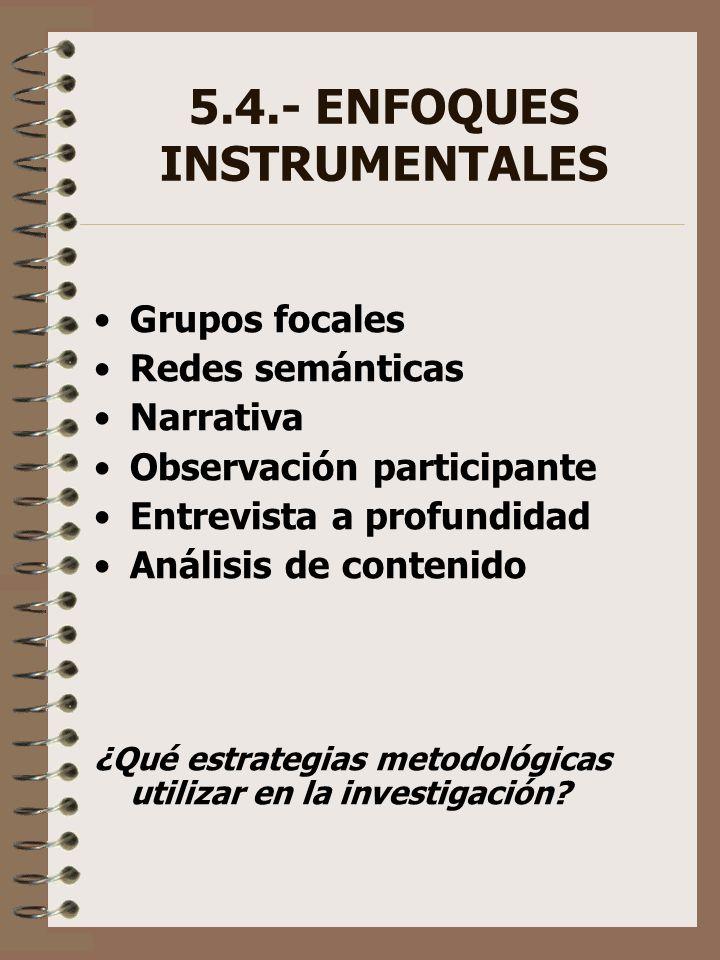 5.4.- ENFOQUES INSTRUMENTALES