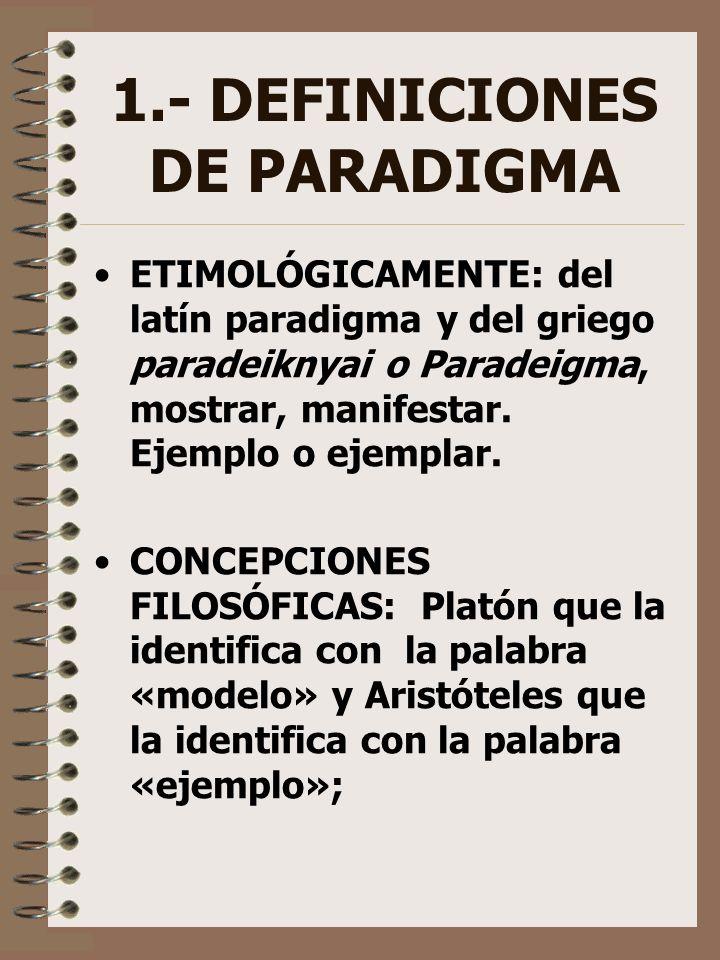 1.- DEFINICIONES DE PARADIGMA
